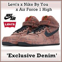 Levi's Nike By You Air Force 1 High Exclusive Denim AW 19