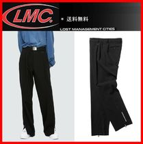 ★韓国の人気★【LMC ] ★LMC SIDE ZIP DRESS PANTS★BLACK★
