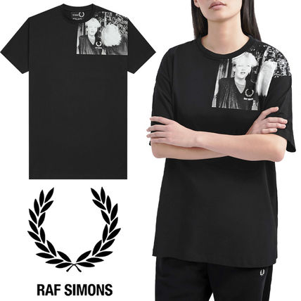 FRED PERRY Tシャツ・カットソー 【FRED PERRY】RAF SIMONS コラボ☆ ショルダープリント Tシャツ