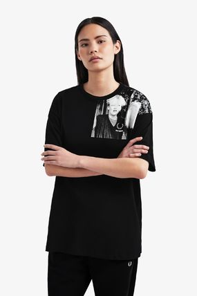 FRED PERRY Tシャツ・カットソー 【FRED PERRY】RAF SIMONS コラボ☆ ショルダープリント Tシャツ(5)