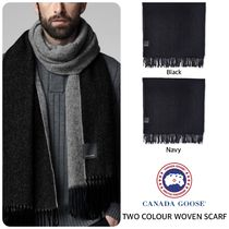 CANADA GOOSE カナダグース TWO COLOUR WOVEN SCARF スカーフ