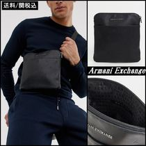 【A/X Armani Exchange】all over logo フライト バッグ 黒 ♪