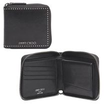 【Jimmy Choo】Lawrence Tia Studded Wallet ミニ財布 ブラック