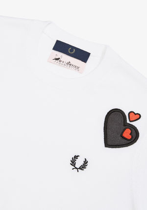 FRED PERRY Tシャツ・カットソー フレッドペリー SK7102 100 WOMEN AMY WINEHOUSE HEART JUMPER(3)