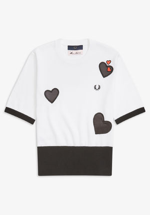 FRED PERRY Tシャツ・カットソー フレッドペリー SK7102 100 WOMEN AMY WINEHOUSE HEART JUMPER(4)