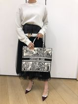 """【Dior】2019/20AW キャンバス """"DIOR BOOK TOTE""""バッグ ラージ"""