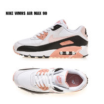 NIKE★WMNS AIR MAX 90★WHITE/LIGHT SOFT PINK/BLACK