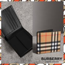 【burberry】Vintage checked 折財布 送料/関税込