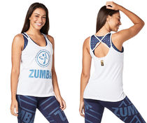 ◆9月新作◆Zumba Glam Tank-Wear It Out White