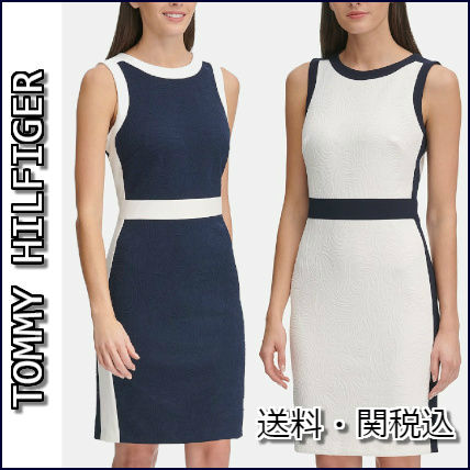 Tommy Hilfiger ワンピース TOMMY HILFIGER★ペイズリー★カラーブロック★ワンピース★2色