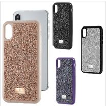 [SWAROVSKI]*GLAM ROCK*スマホケース iPhone X/XS/XR/XS MAX対応