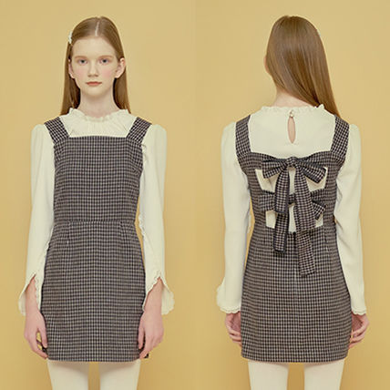 Margarin Fingers ワンピース ★Margarin Fingers★韓国 ワンピース DOUBLE RIBBON ONE PIECE