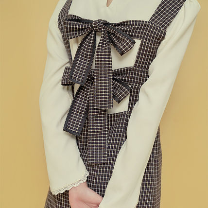 Margarin Fingers ワンピース ★Margarin Fingers★韓国 ワンピース DOUBLE RIBBON ONE PIECE(3)