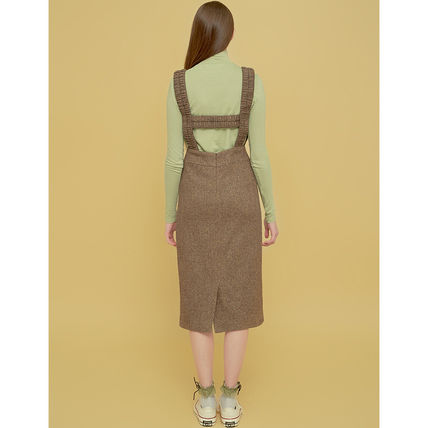 Margarin Fingers ワンピース Margarin Fingers★ワンピース HERRINGBONE SUSPENDER ONE PIECE(6)