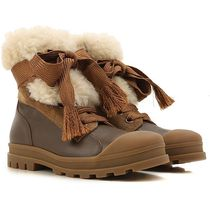 Leather shearling Boots ボアブーツ