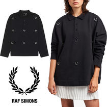 【FRED PERRY】RAF SIMONS コラボ☆ローレル 長袖 ポロシャツ