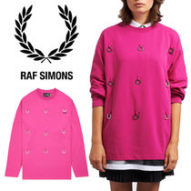【FRED PERRY】RAF SIMONS コラボ☆ ローレル スウェット Pink