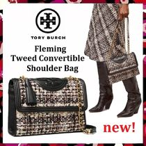 セール新作 Tory Burch Fleming Tweed Convertible Shoulder Bag
