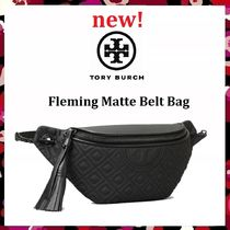 新作 セール Tory Burch Fleming Matt Belt Bag