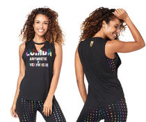 新作♪Zumba ズンバ Zumba Anywhere + Everywhere Tank- Black