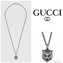 【GUCCI 】Necklace in silver with feline head