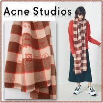 【Acne Studios】2019AW Brown/pink チェック ストール