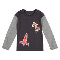 La Redoute★Cotton T-Shirt Long Contrasting Sleeves 3-12A
