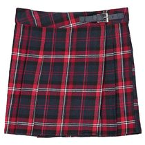 La Redoute★Cotton Checked Pleated Skirt 3-12A