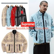 FW19 Supreme Reversible Bandana Fleece Jacket - バンダナ