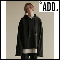☆add☆CROPPED HEM HOODIE BLACK