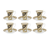 I LOVE BAROQUE Cup & Saucer - Set of 6 - White(送料・関税込)