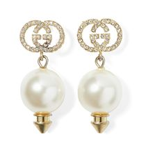 ∞∞ GUCCI ∞∞ Gold-tone, faux pearl and crystal ピアス☆