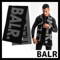 BALR マフラー BIG LIFEOFABALR. SCARF BLACK