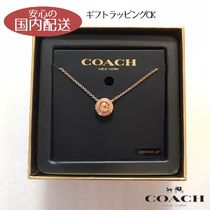 COACH☆ Open Circle Stone Strand ネックレス ☆税・送込
