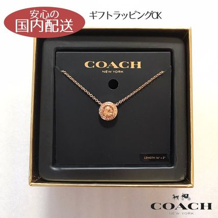 Coach ネックレス・ペンダント COACH☆ Open Circle Stone Strand ネックレス ☆税・送込
