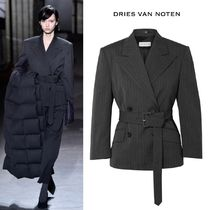 ∞∞ Dries Van Noten ∞∞ Belted double-breasted ブレザー☆