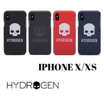 Hydrogen   スカルロゴ HYDROGEN JELLY COVER IPHONE X/XS
