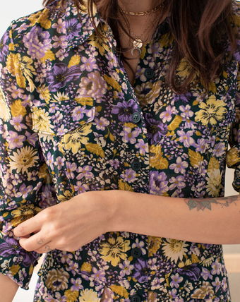 "& Other Stories ワンピース ""& Other Stories"" Floral Utility Midi Shirt Dress Purple(3)"
