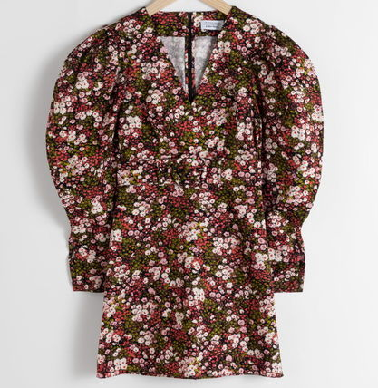 """& Other Stories ワンピース """"& Other Stories"""" Floral Puff Sleeve Mini Dress Print"""
