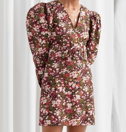 """& Other Stories ワンピース """"& Other Stories"""" Floral Puff Sleeve Mini Dress Print(2)"""