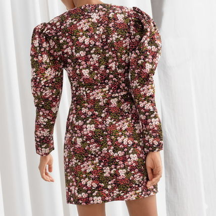"""& Other Stories ワンピース """"& Other Stories"""" Floral Puff Sleeve Mini Dress Print(4)"""