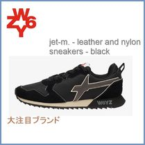 W6YZ(ウィズ) スニーカー New[W6YZ] jet-m. - leather and nylon sneakers - black