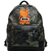 COACH WEST BACKPACK WITH CAMO PRINT AND VANDAL GUMMY