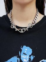【OPEN THE DOOR】 silver chain keyring