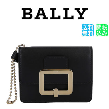 BALLY カードケース・名刺入れ 【関税送料込】BALLY JINA CARD CASE IN SMOOTH LEATHER