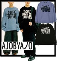 ★/関税込★AJOBYAJO★Oversized Slogan Wool Knit Sweater★2色