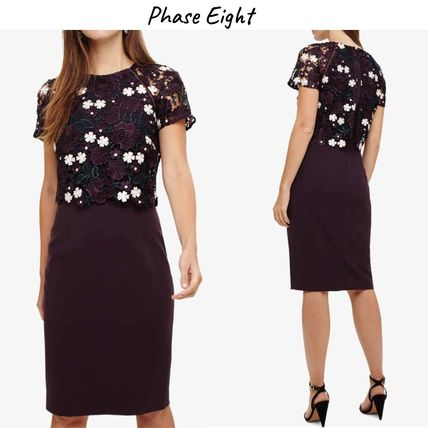 Phase Eight ワンピース Phase Eight(フェイズ エイト)華やか♪フローラル刺繍ワンピース