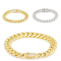 【King Ice】10mm 14K Gold Miami Cuban Chainブレスレット(2色)