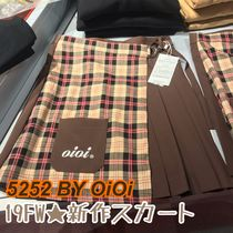 2019AW★新作【5252 by OiOi】HALF CHECK WRAP SKIRTS 全3色