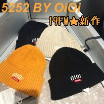 2019AW★新作【5252 by OiOi】LOGO POINT BEANIE ニット帽 全5色